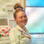 Photo of Jamaia Debbage at the hospital